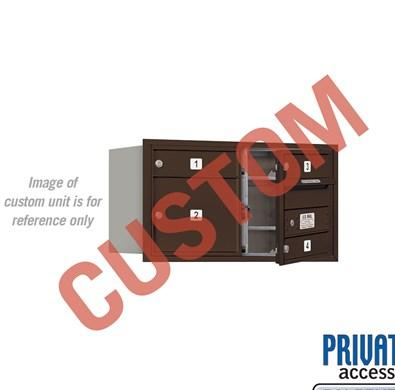 Recessed Mounted 4C Horizontal Mailbox - 3704D-CZFP