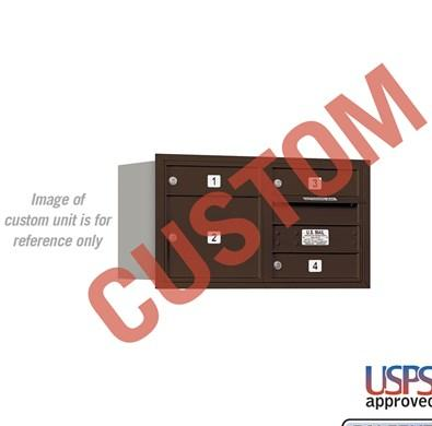 Recessed Mounted 4C Horizontal Mailbox - 3704D-CZRU