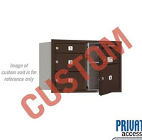 Recessed Mounted 4C Horizontal Mailbox - 3705D-CZFP