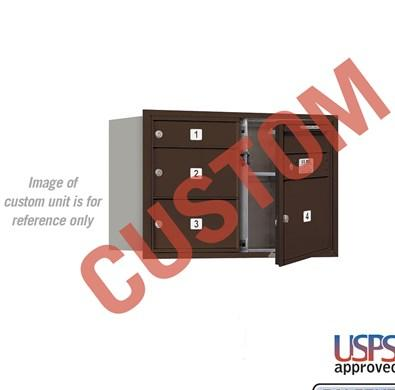 Recessed Mounted 4C Horizontal Mailbox - 3705D-CZFU