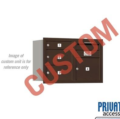 Recessed Mounted 4C Horizontal Mailbox - 3705D-CZRP
