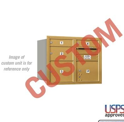 Recessed Mounted 4C Horizontal Mailbox - 3706D-CARU