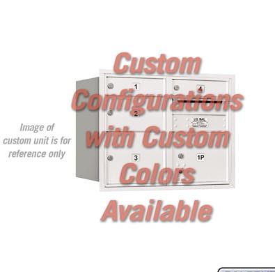 Recessed Mounted 4C Horizontal Mailbox - 3706D-CCRU