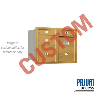 Recessed Mounted 4C Horizontal Mailbox - 3706D-CGRP