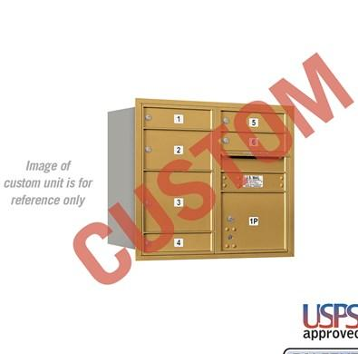 Recessed Mounted 4C Horizontal Mailbox - 3707D-CARU