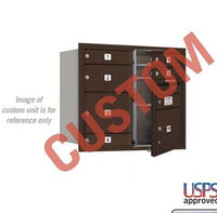 Recessed Mounted 4C Horizontal Mailbox - 3707D-CZFU