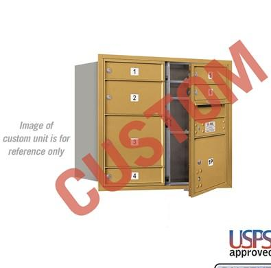 Recessed Mounted 4C Horizontal Mailbox - 3707D-CGFU