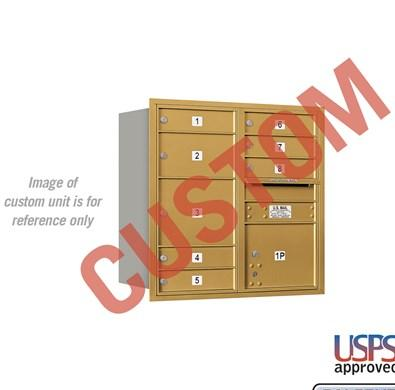 Recessed Mounted 4C Horizontal Mailbox - 3708D-CARU