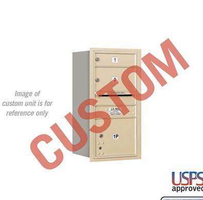 Recessed Mounted 4C Horizontal Mailbox - 3708S-CARU