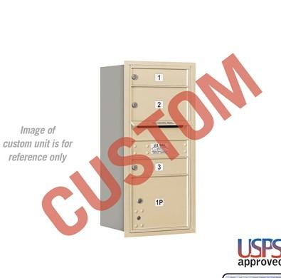 Recessed Mounted 4C Horizontal Mailbox - 3709S-CARU