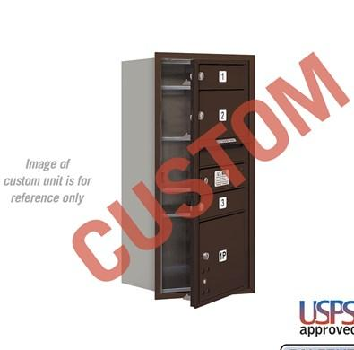 Recessed Mounted 4C Horizontal Mailbox - 3709S-CZFU