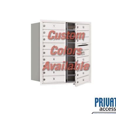 Recessed Mounted 4C Horizontal Mailbox - 3709D-16CFP