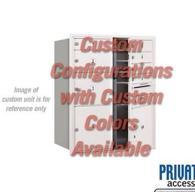 Recessed Mounted 4C Horizontal Mailbox - 3710D-CCFP