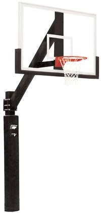 Removable Supreme Court Glass Residential Basketball System