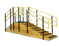 "Two-Sided Convertible Training Stairs Withplatform, 30"" Wide, 30x30"" Platform"