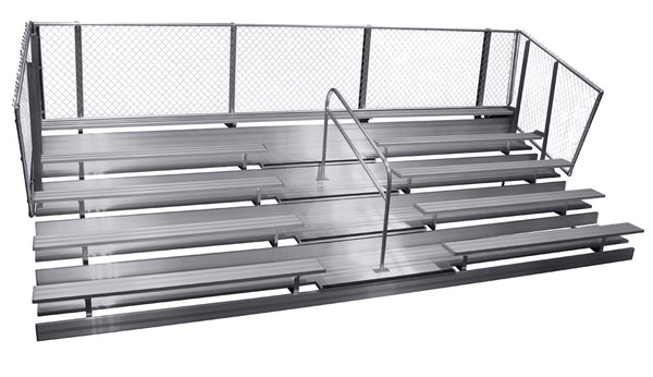 Spectator Transportable 15' Bleacher with Aisle, 5 Row