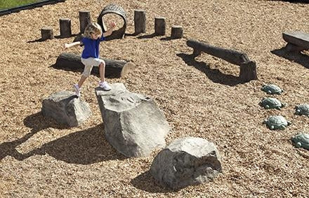 Stepping Boulders - Set Of 3 (5-12 Yr). Includes 2 Small And 1 Large Boulder