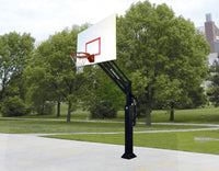 "Ultimate HangTime 5"" Adjustable Basketball System with 42"" x60"" Steel Backboard"