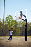 "ZipCrank 5"" Outdoor System with 36"" x 60"" Unbreakable Polycarbonate Backboard"
