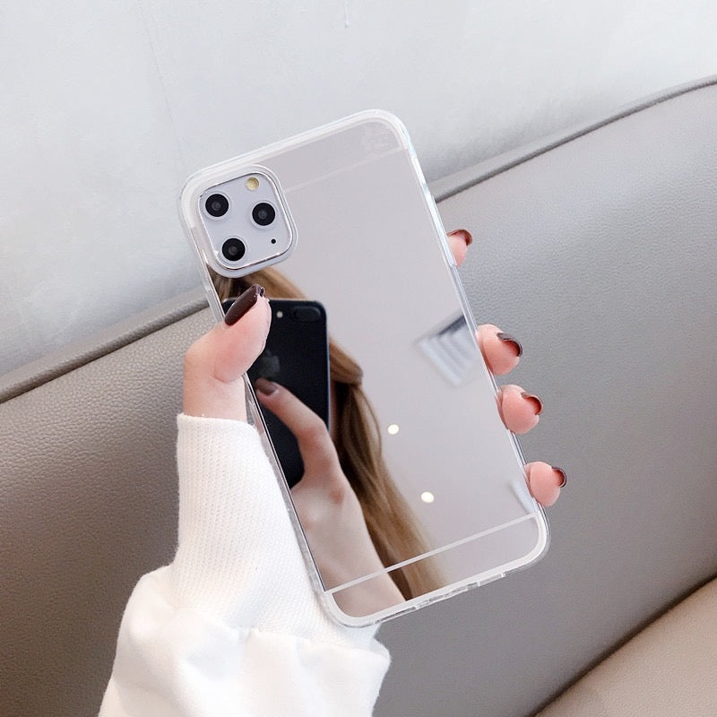 Luxury Plating Silver Mirror Phone Case