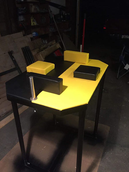 Cut Corner Armwrestling Table