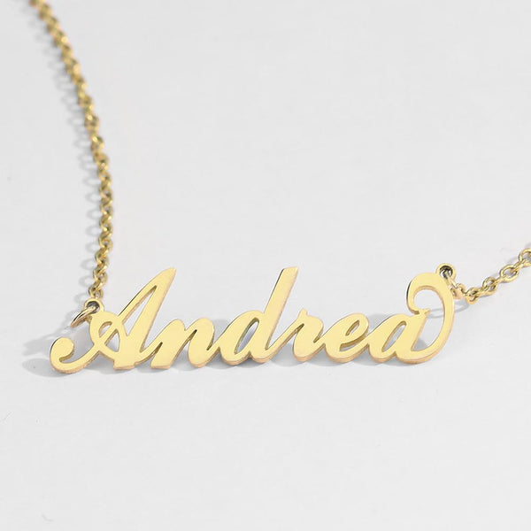 Custom Name Necklace 14K Gold Plated Copper