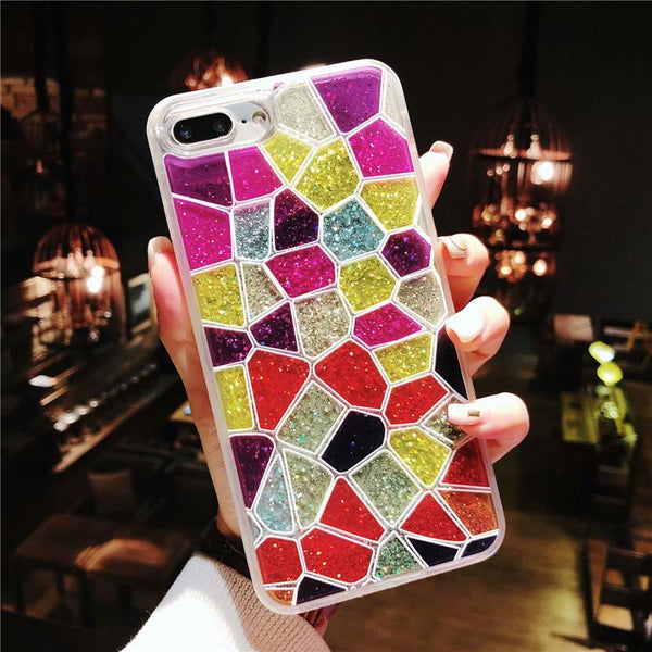 iPhone Quicksand Colorful Cobblestone Phone Case
