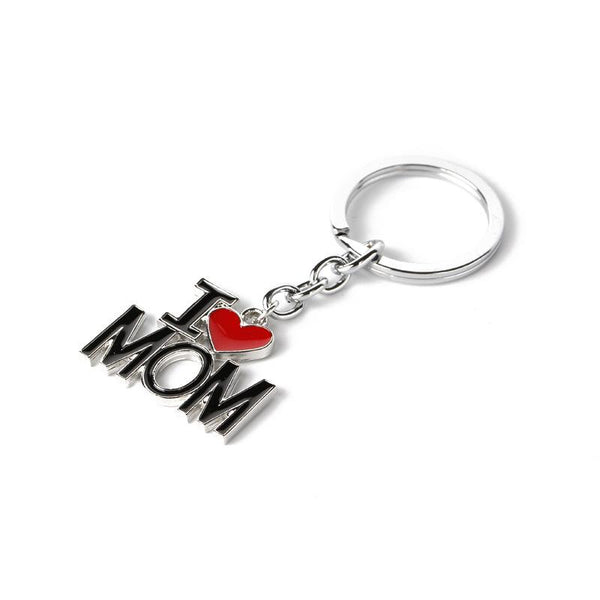 I Love Mom Keychain