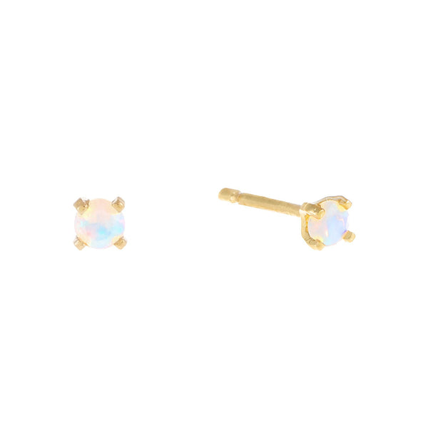 Tiny Opal Stud Earring 14K