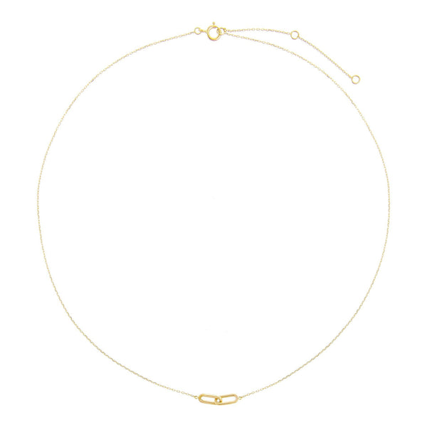 Oval Link Chain Necklace 14K