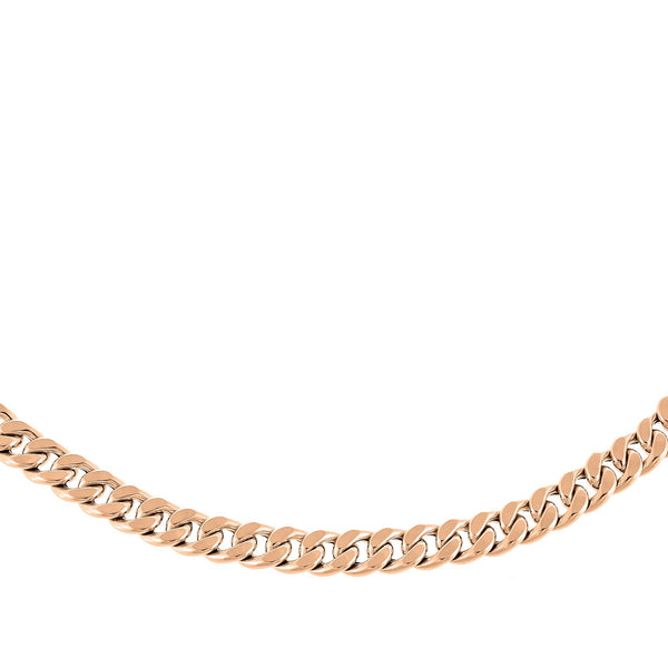 Cuban Curve Link Necklace 14K
