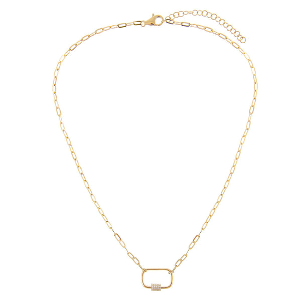 Diamond Chain Toggle Necklace 14K