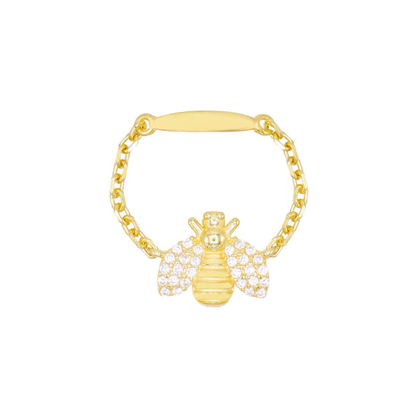 Pavé Bee Chain Ring