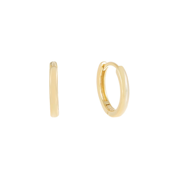 Thin Solid Hoop Earring