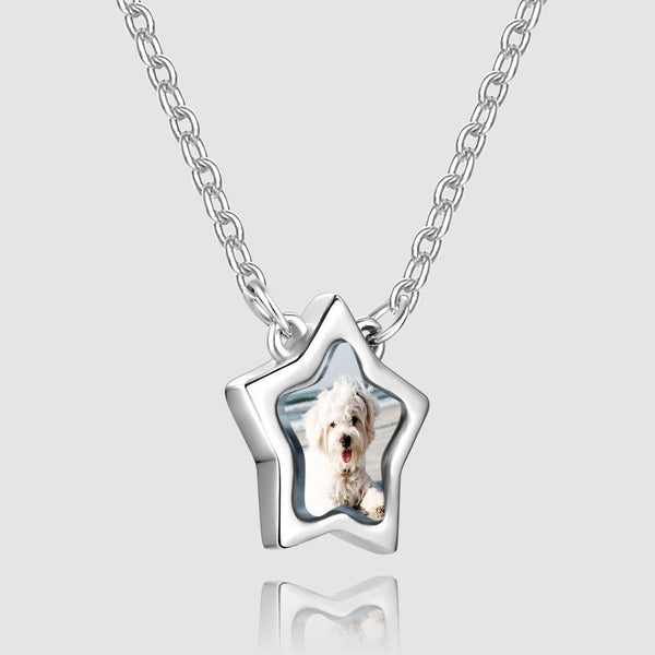 Star Photo Necklace Silver