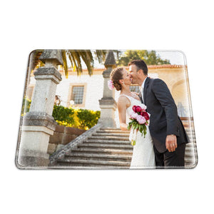 Personalized Photo Passport Holder Leather For Couples - 6.5 inch