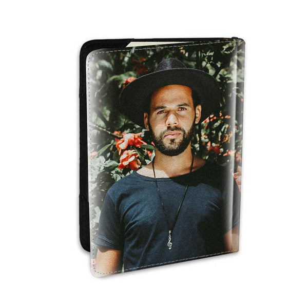 Personalized Photo Passport Holder Leather For Couples - 5.5 inch