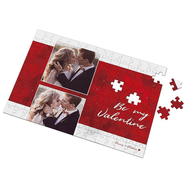 Be My Valentine Custom Photo Puzzle 35-500 Pieces -  Love Name Necklace