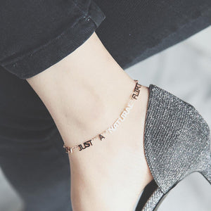 Anklet I`m Just a Natural Love Discharge -  Love Name Necklace