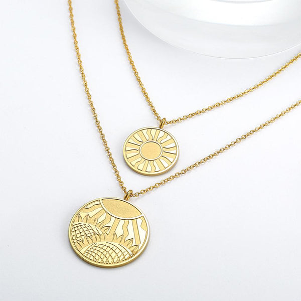 Vintage Coin Necklace in Rose Gold Plated