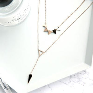Geometrical Shape Necklace in Rose Gold Plated