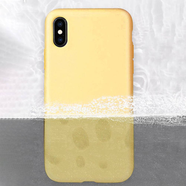 Liquid Silicone iPhone Case Waterproof Yellow