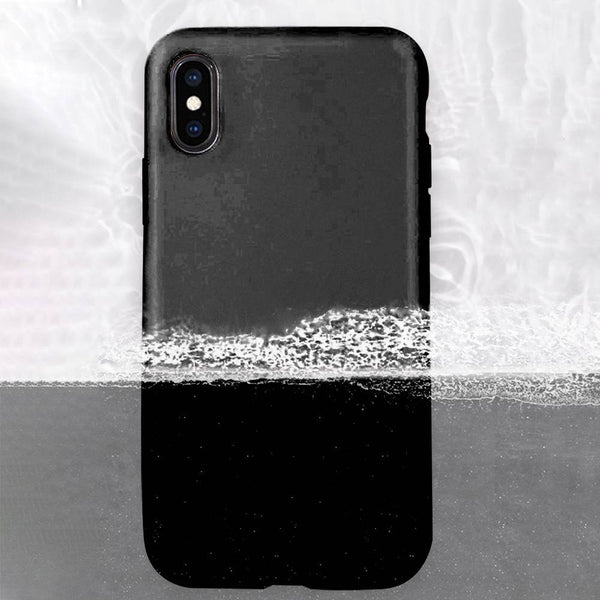 Liquid Silicone iPhone Case Waterproof Black