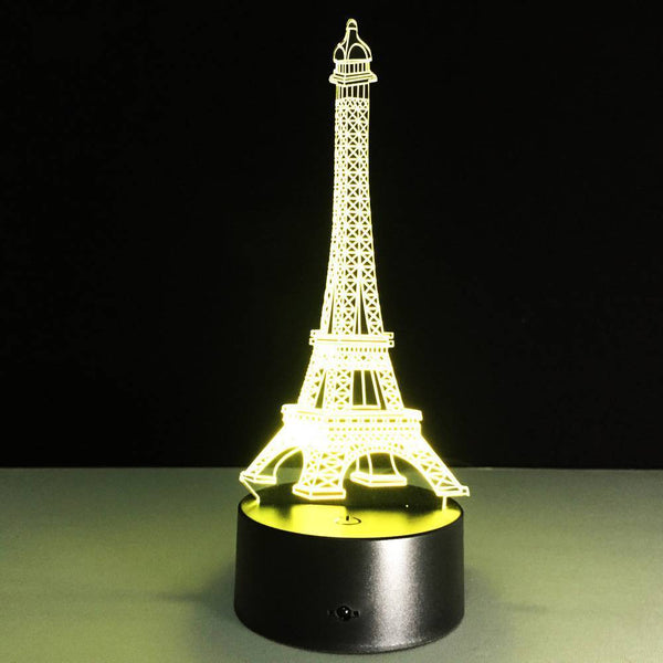 Eiffel Tower 3D Colorful Night Light Creative Touch Seven Color Change