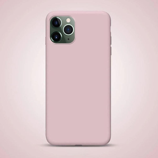 Liquid Silicone iPhone Case Waterproof Pink