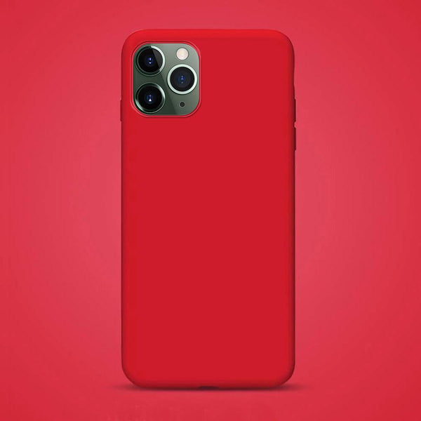 Liquid Silicone iPhone Case Waterproof Red