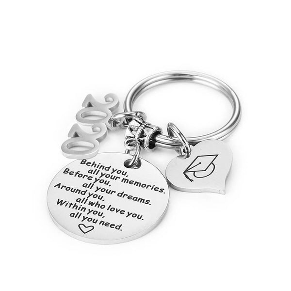 Keychain Behind you, all your memories Graduation Season Gifts