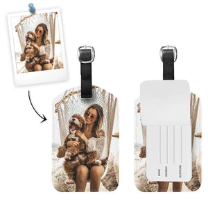 Custom Photo Luggage Tag Travling With Cute Pet