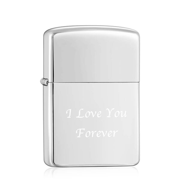 Engraved Lighter Personalized Gifts For Dad - Silver (No Kerosene Included)