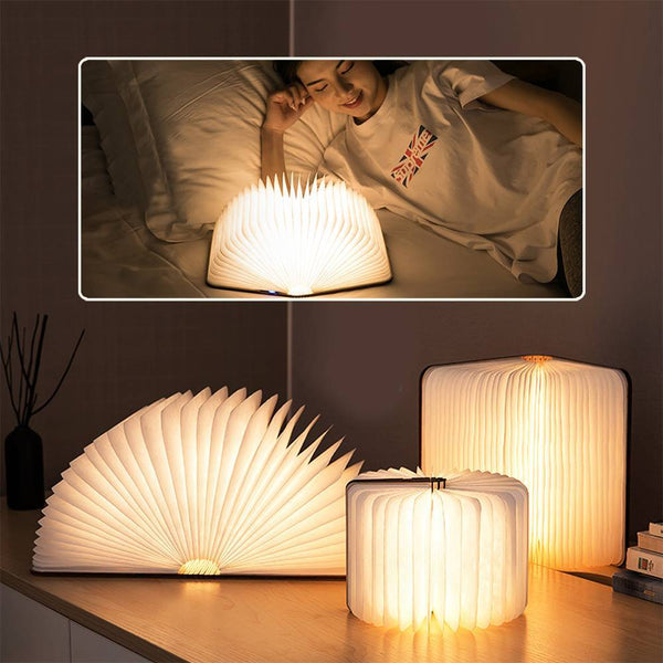Personalized Photo Book Lamp Open 360 Degrees For Desk, Floor Night Light - Colorful